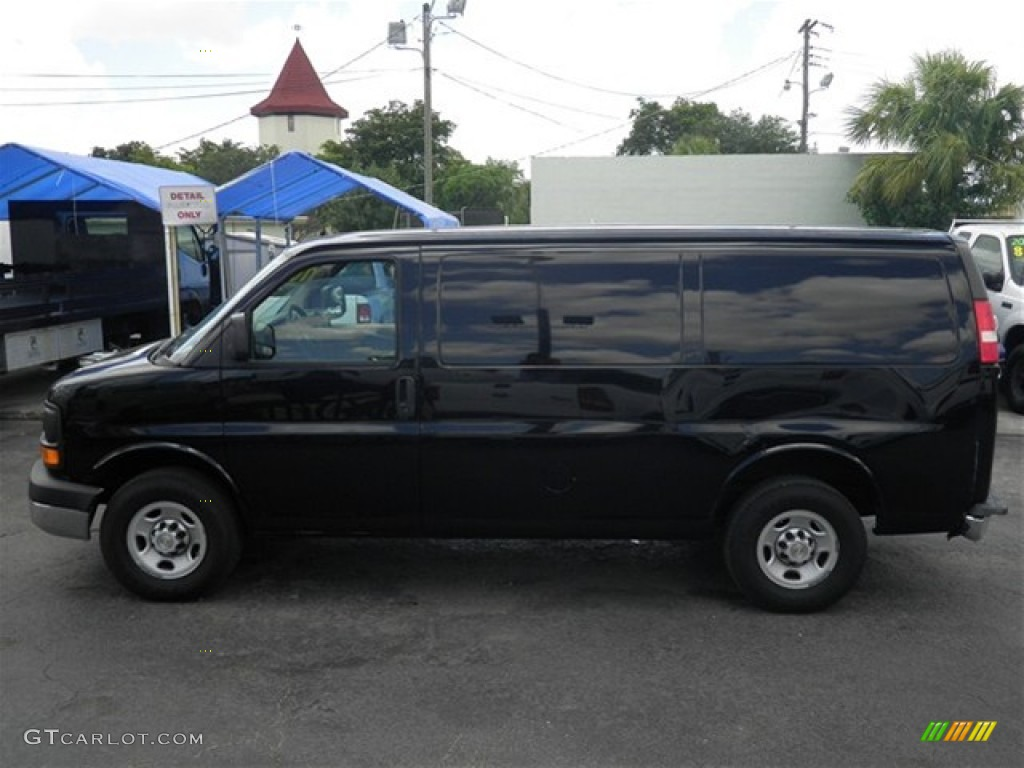 Black 2008 chevrolet express 2500 commercial van exterior photo 71211367