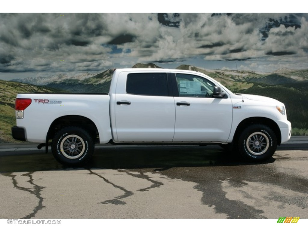 2013 Tundra TRD Rock Warrior CrewMax 4x4 - Super White / Black photo #2