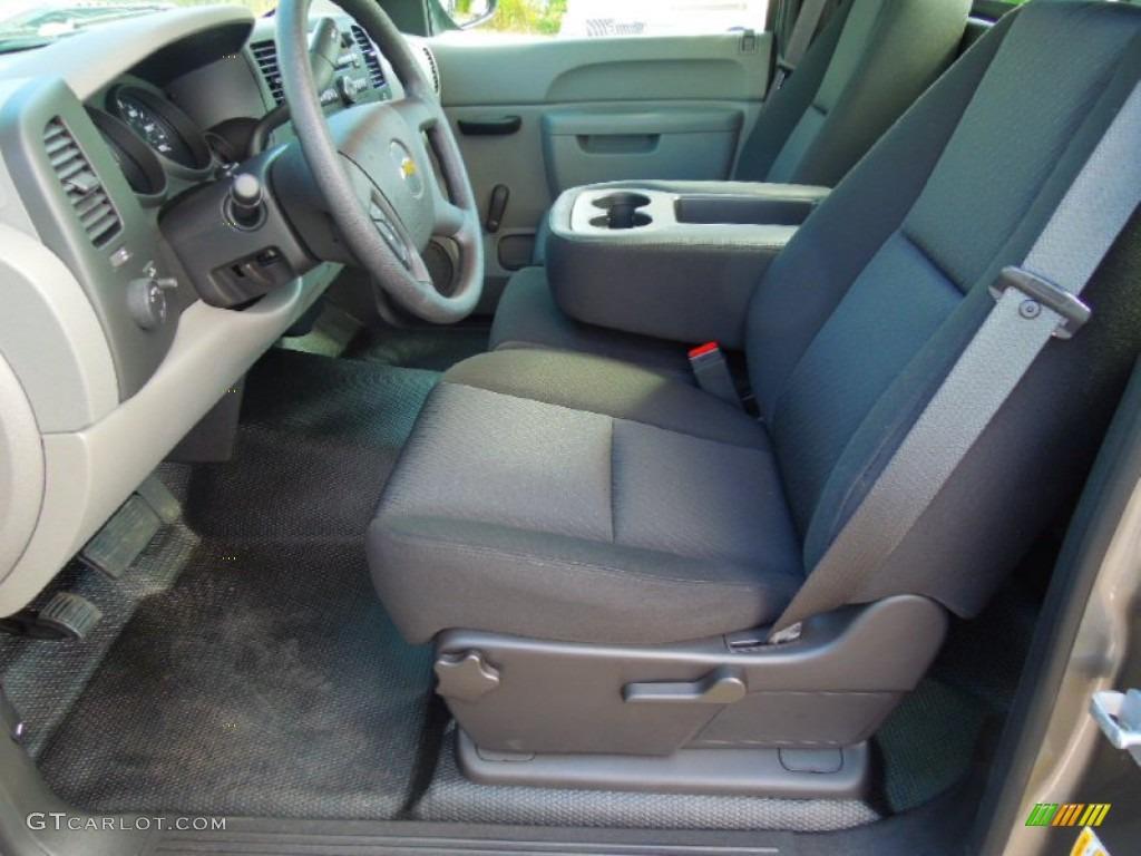 2012 Silverado 1500 LS Regular Cab - Graystone Metallic / Dark Titanium photo #8