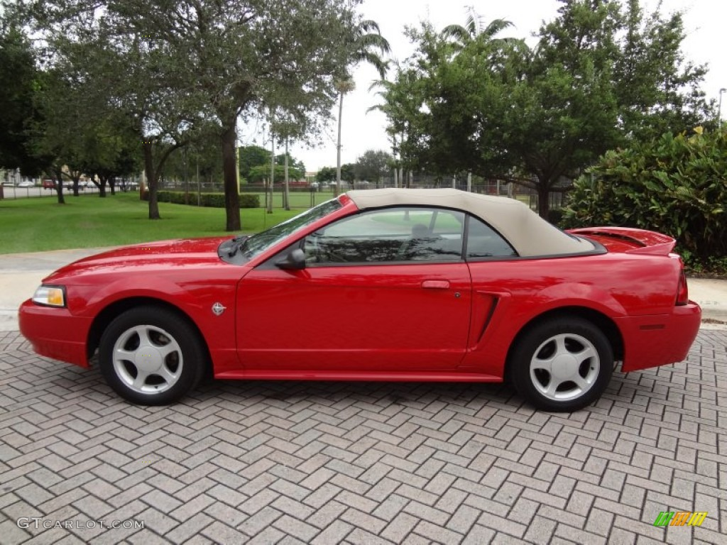 rio red 1999 ford mustang gt convertible exterior photo. Black Bedroom Furniture Sets. Home Design Ideas