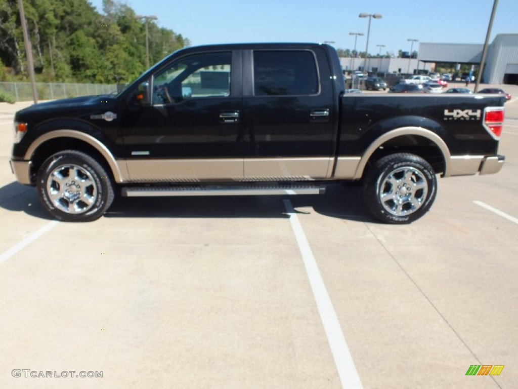 tuxedo black metallic 2013 ford f150 king ranch supercrew 4x4 exterior photo 71233179. Black Bedroom Furniture Sets. Home Design Ideas