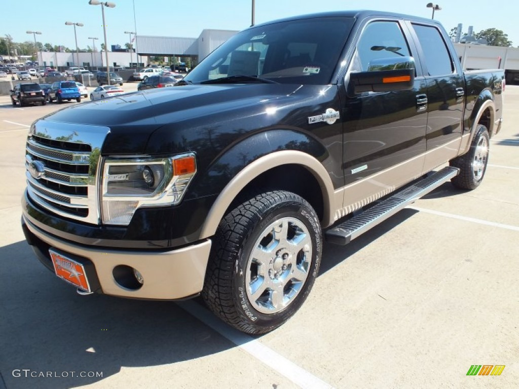 tuxedo black metallic 2013 ford f150 king ranch supercrew 4x4 exterior photo 71233188. Black Bedroom Furniture Sets. Home Design Ideas
