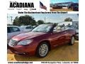 Deep Cherry Red Crystal Pearl 2011 Chrysler 200 Limited Convertible