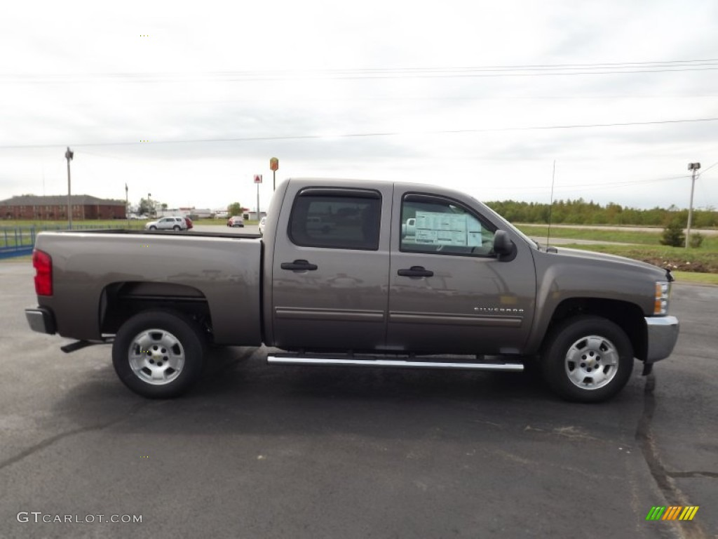 2013 Silverado 1500 LT Crew Cab - Mocha Steel Metallic / Light Cashmere/Dark Cashmere photo #4