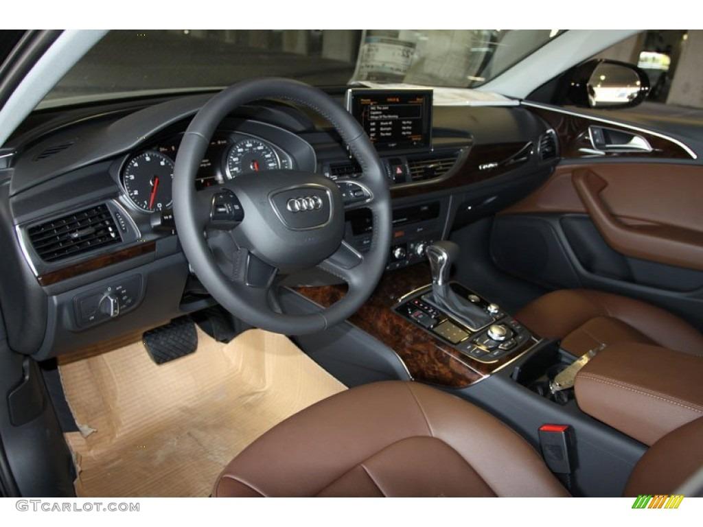Nougat Brown Interior 2013 Audi A6 30T quattro Sedan Photo
