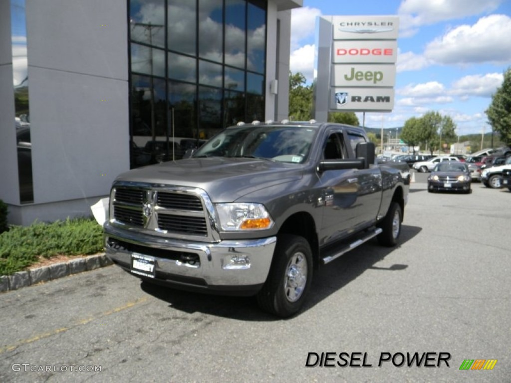 2010 Ram 3500 SLT Crew Cab 4x4 - Mineral Gray Metallic / Dark Slate/Medium Graystone photo #1