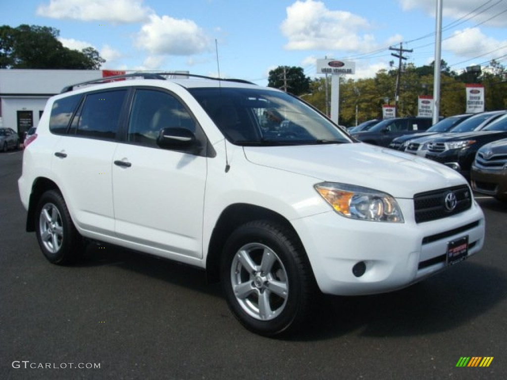super white 2007 toyota rav4 v6 4wd exterior photo. Black Bedroom Furniture Sets. Home Design Ideas