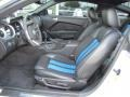 2010 Ford Mustang Charcoal Black/Grabber Blue Interior Front Seat Photo
