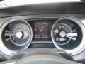 2010 Ford Mustang Charcoal Black/Grabber Blue Interior Gauges Photo