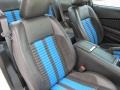 2010 Ford Mustang Charcoal Black/Grabber Blue Interior Interior Photo
