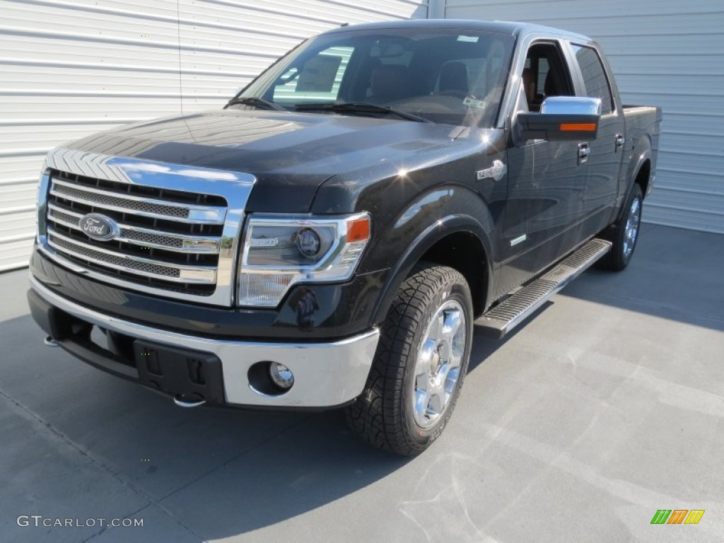 tuxedo black metallic 2013 ford f150 king ranch supercrew 4x4 exterior photo 71264551. Black Bedroom Furniture Sets. Home Design Ideas