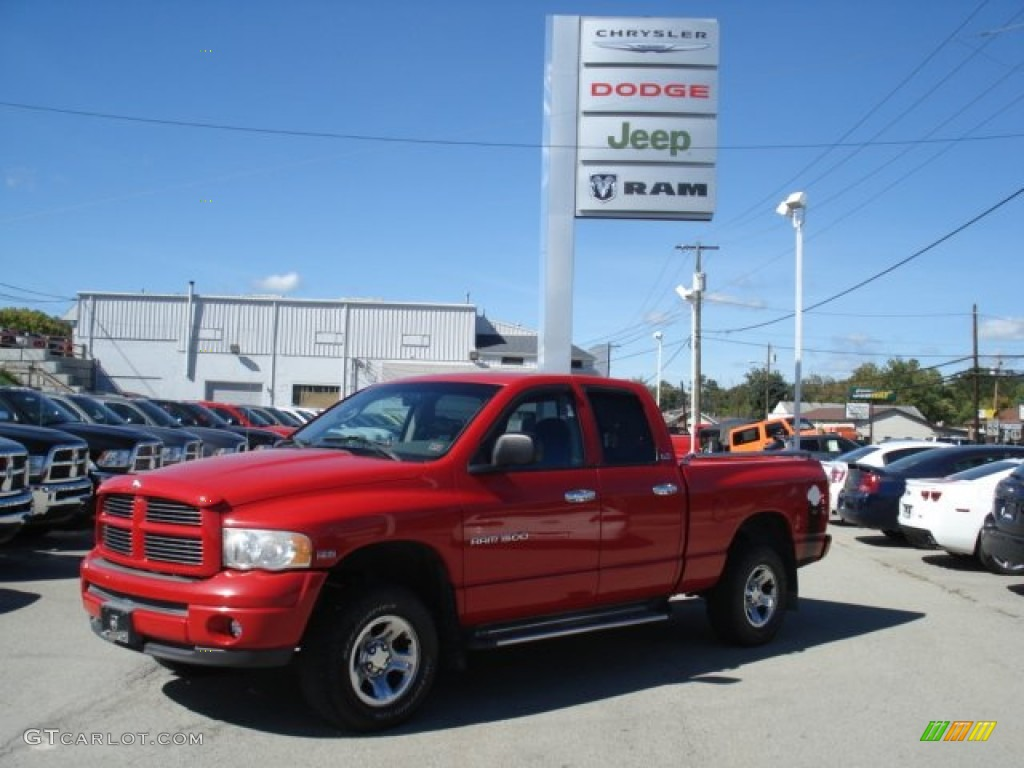 2002 Ram 1500 Sport Quad Cab 4x4 - Flame Red / Dark Slate Gray photo #1