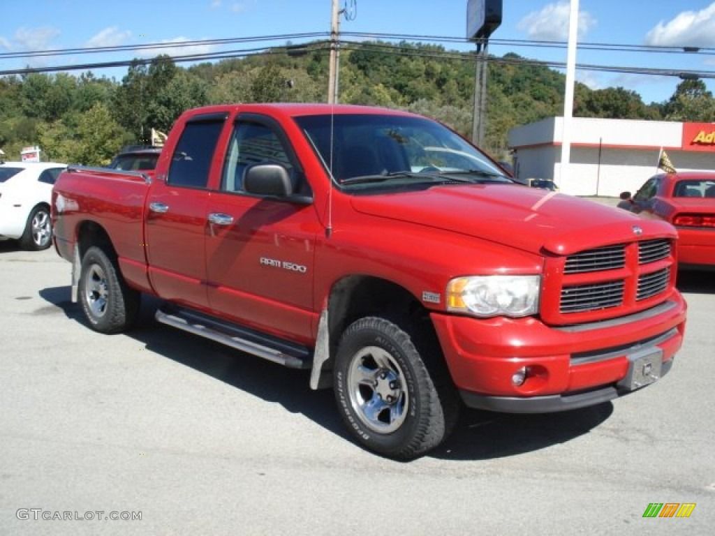 2002 Ram 1500 Sport Quad Cab 4x4 - Flame Red / Dark Slate Gray photo #3