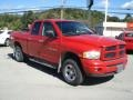 2002 Flame Red Dodge Ram 1500 Sport Quad Cab 4x4  photo #3