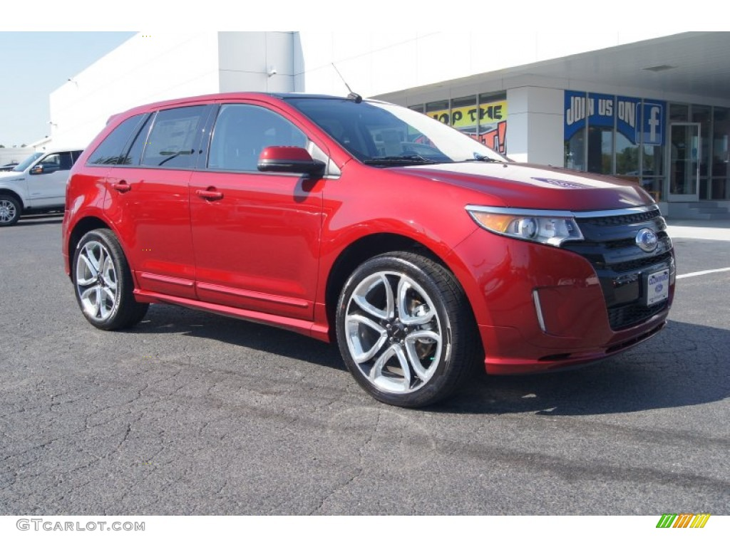 ruby red 2013 ford edge sport awd exterior photo 71275699. Black Bedroom Furniture Sets. Home Design Ideas