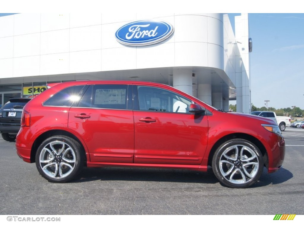 ruby red 2013 ford edge sport awd exterior photo 71275714. Black Bedroom Furniture Sets. Home Design Ideas