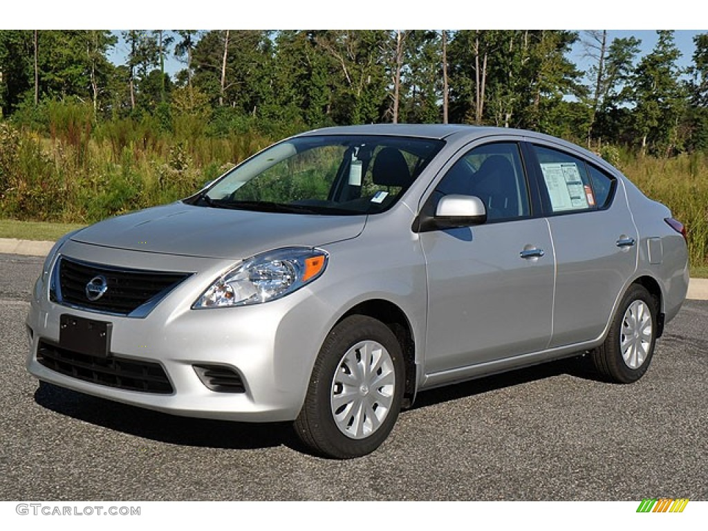 brilliant silver metallic 2012 nissan versa 1 6 sv sedan exterior photo 71275876. Black Bedroom Furniture Sets. Home Design Ideas
