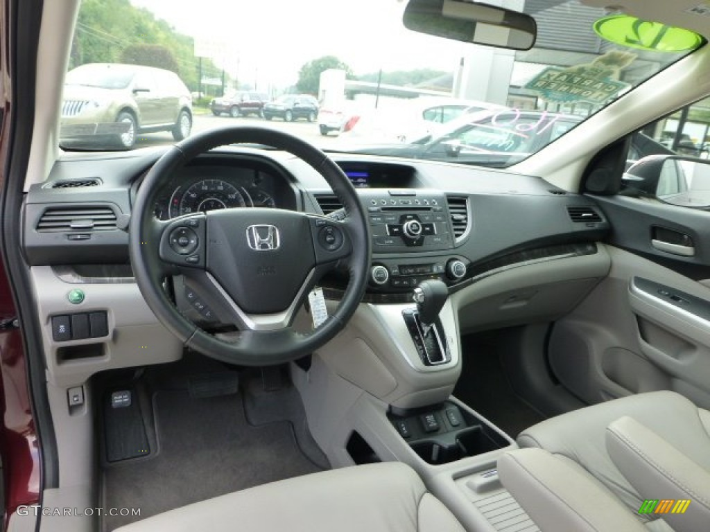 2012 Honda CR-V EX-L 4WD Gray Dashboard Photo #71276635