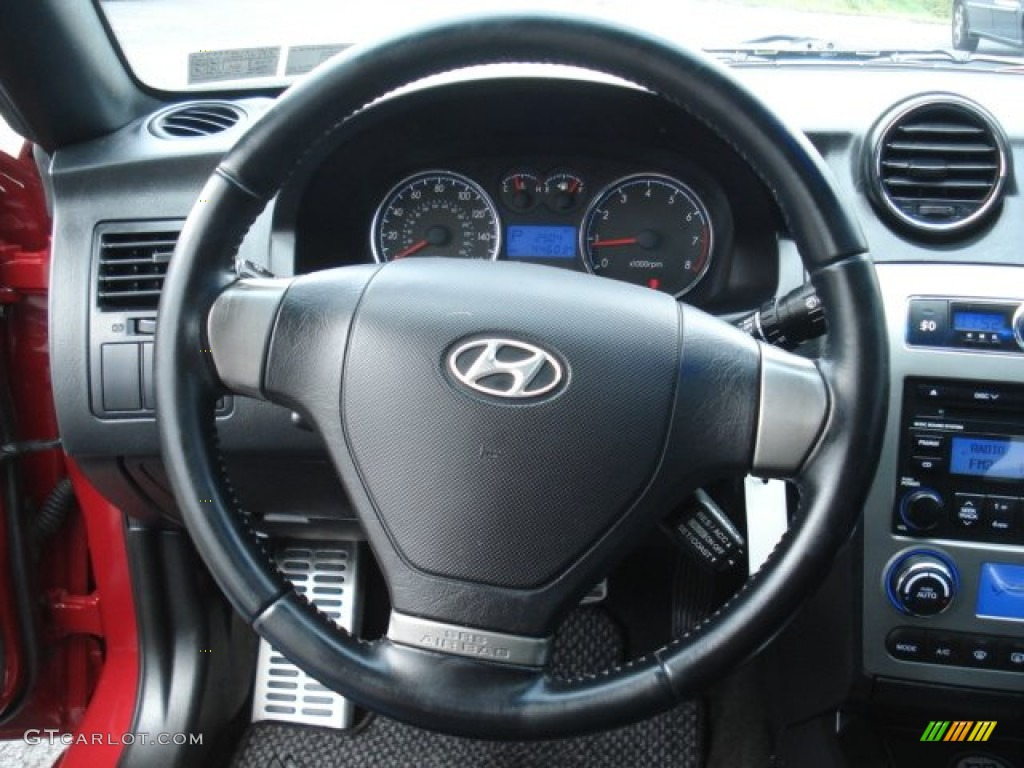 2007 hyundai tiburon gt black steering wheel photo. Black Bedroom Furniture Sets. Home Design Ideas
