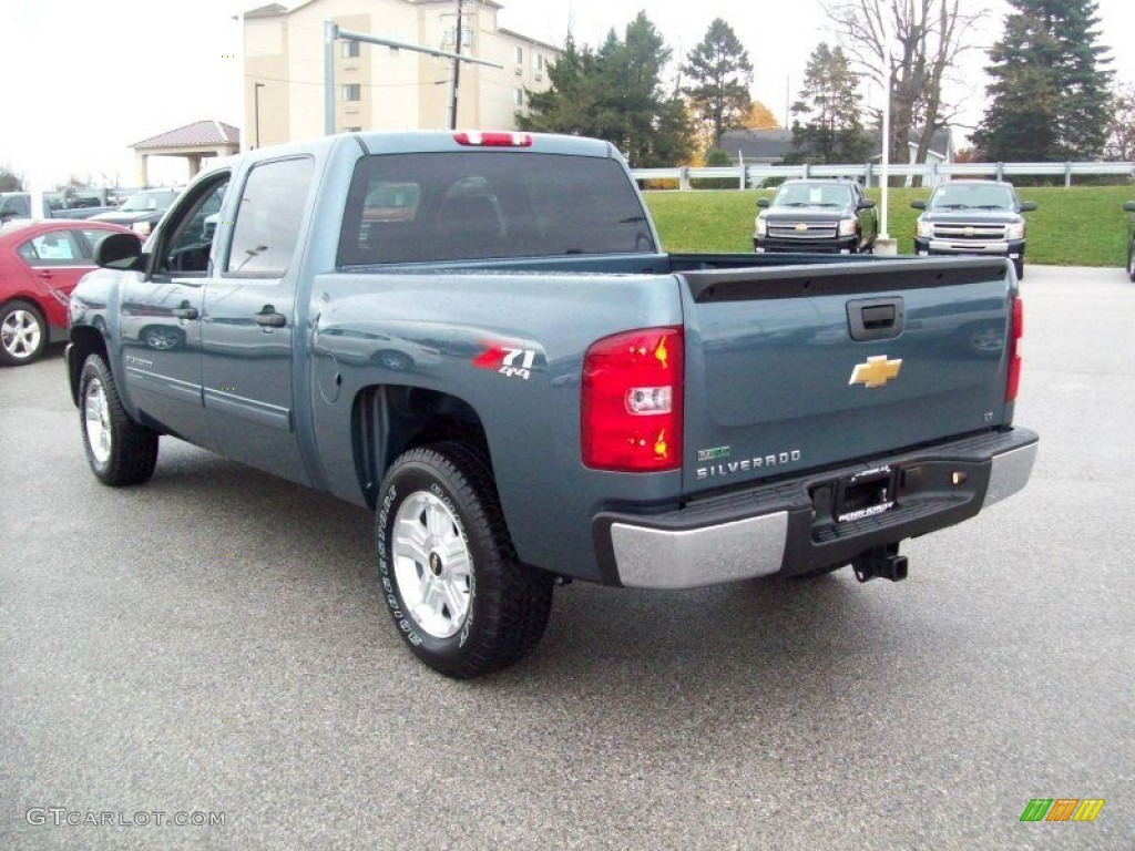2012 Silverado 1500 LT Crew Cab 4x4 - Blue Granite Metallic / Light Titanium/Dark Titanium photo #2