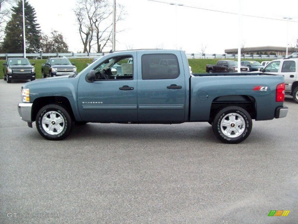 2012 Silverado 1500 LT Crew Cab 4x4 - Blue Granite Metallic / Light Titanium/Dark Titanium photo #12