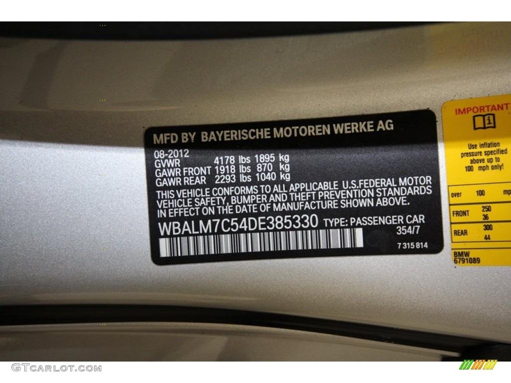 2013 Z4 Color Code 354 For Titanium Silver Metallic Photo