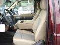 2012 Vermillion Red Ford F250 Super Duty XLT SuperCab 4x4  photo #11