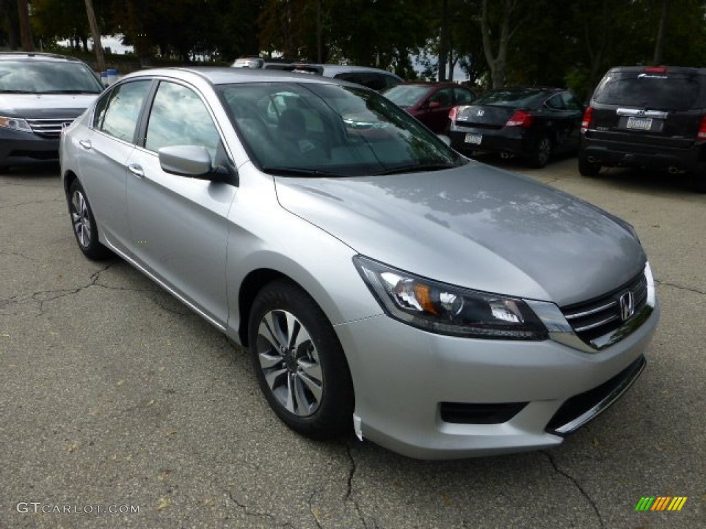 Alabaster Silver Metallic 2013 Honda Accord Lx Sedan