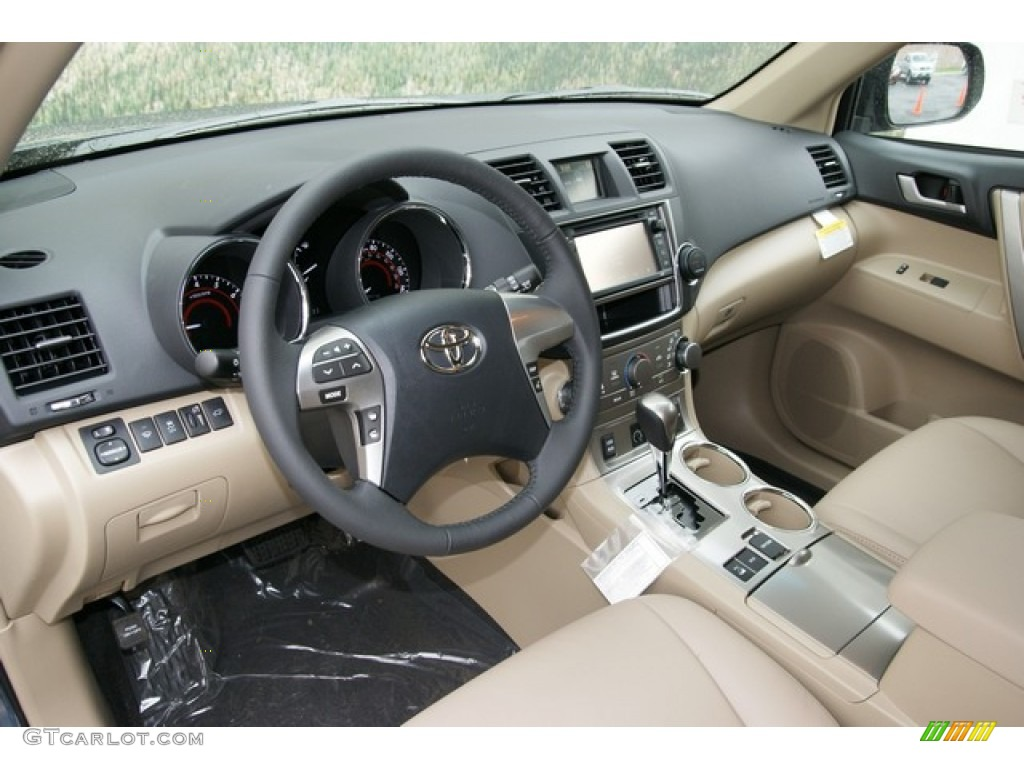 Sand Beige Interior 2013 Toyota Highlander Se 4wd Photo 71321833