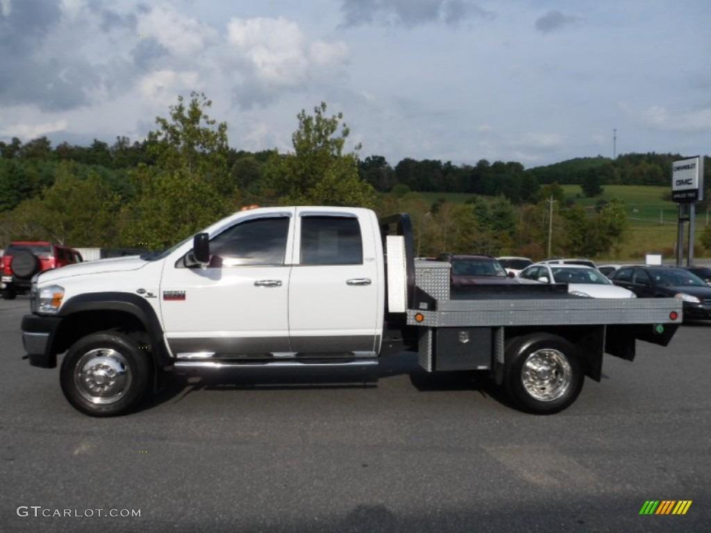2008 Bright White Dodge Ram 5500 Hd Laramie Quad Cab 4x4 Flat Bed 71275412 Gtcarlot Com Car Color Galleries