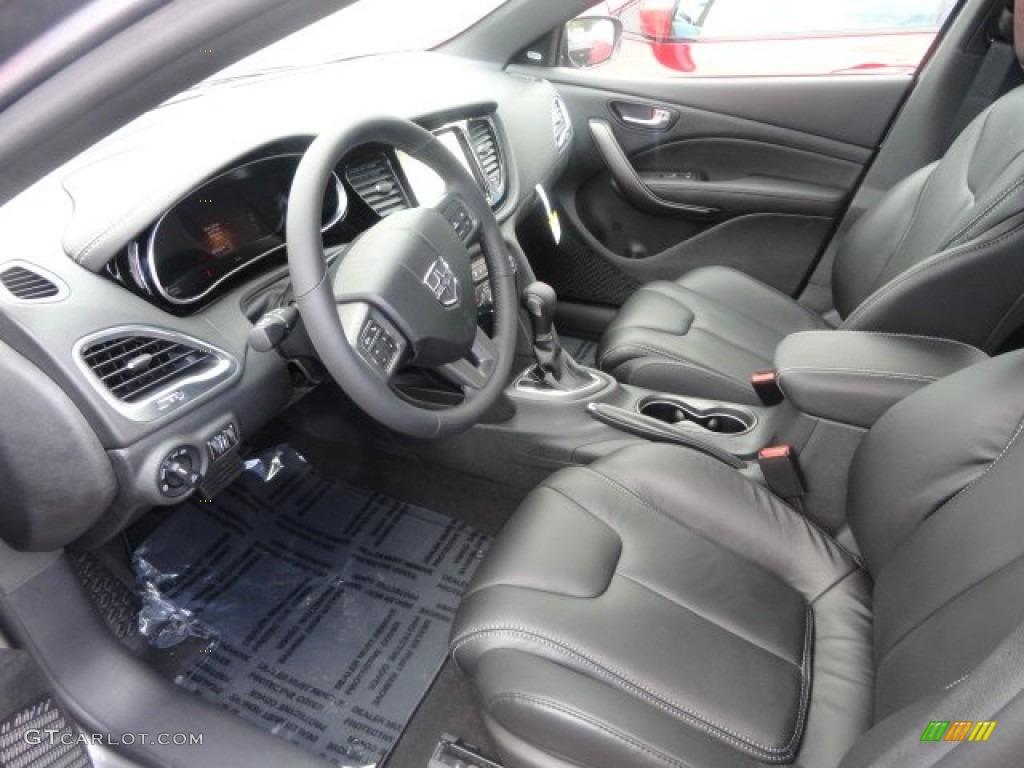 Black Interior 2013 Dodge Dart Limited Photo 71334441