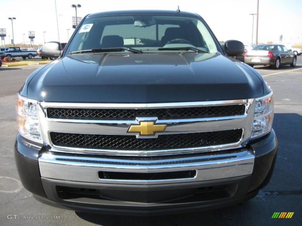 2011 Silverado 1500 LS Extended Cab - Black / Dark Titanium photo #2
