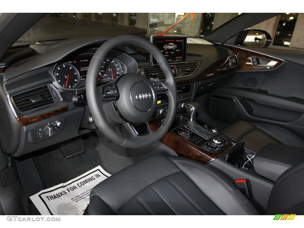 black interior 2013 audi a7 3 0t quattro prestige photo 71353382. Black Bedroom Furniture Sets. Home Design Ideas