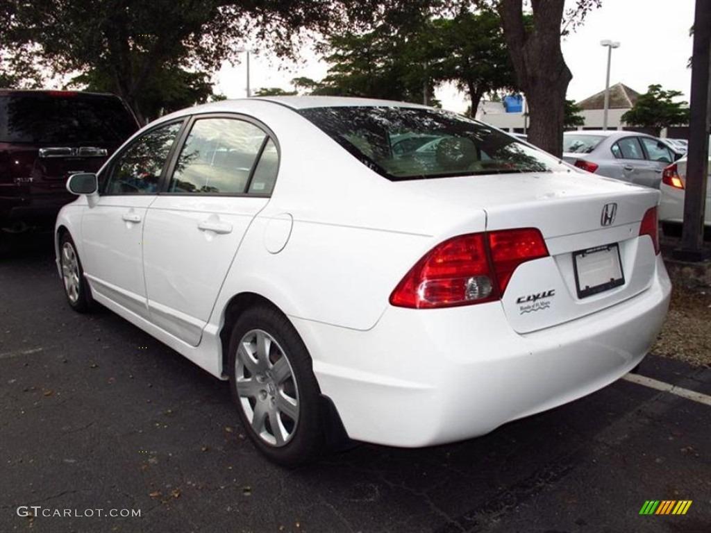 taffeta white 2007 honda civic lx sedan exterior photo 71375770. Black Bedroom Furniture Sets. Home Design Ideas