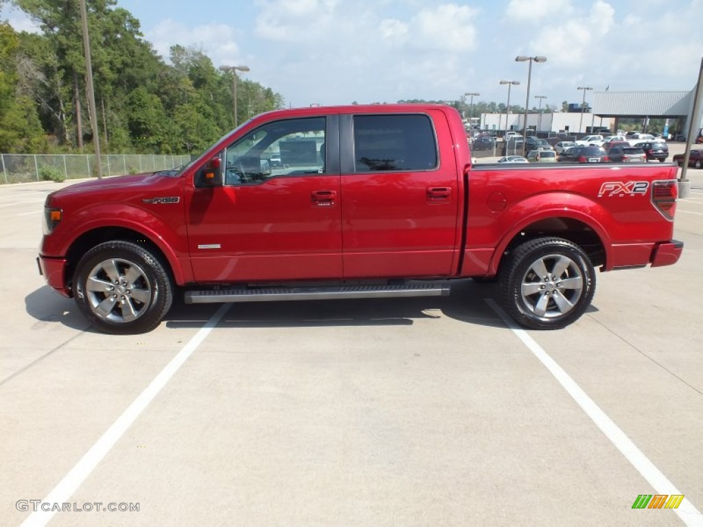 Ruby Red Metallic 2013 Ford F150 Fx4 Supercrew 4x4