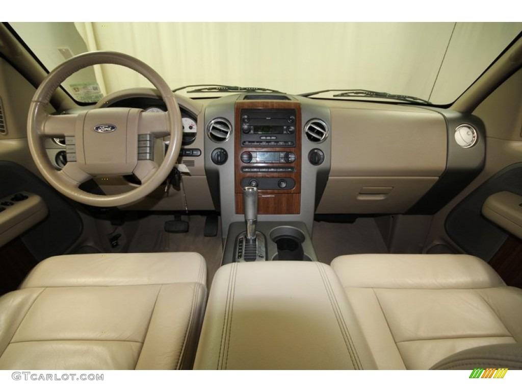 tan interior 2004 ford f150 lariat supercrew 4x4 photo 71390497