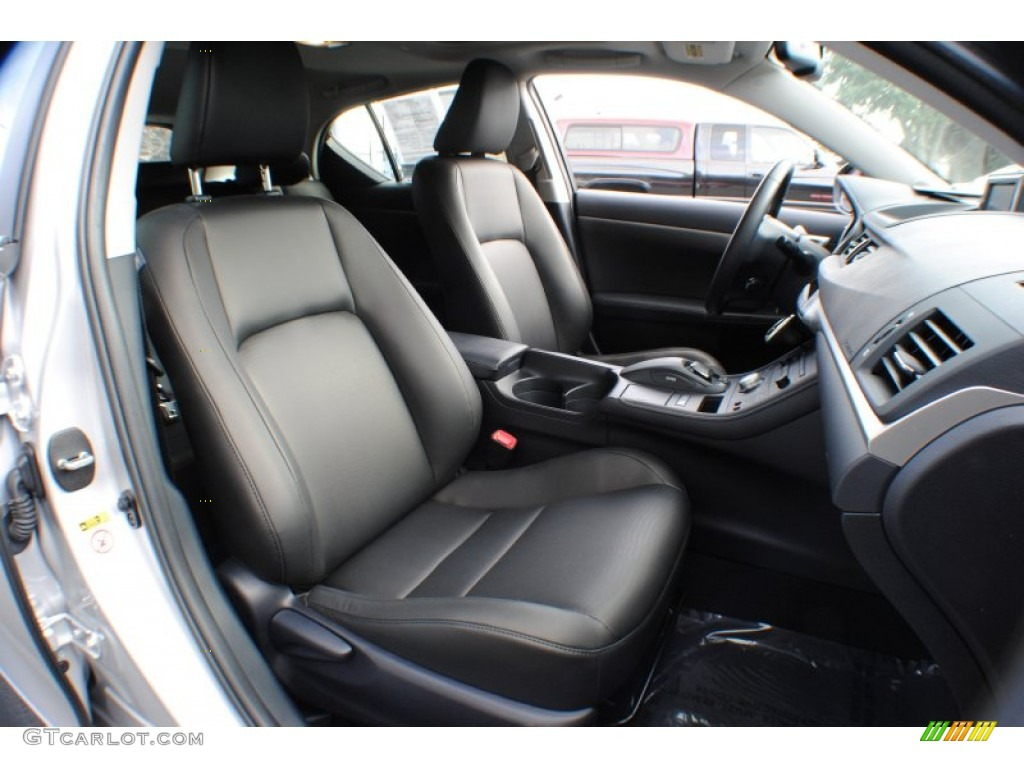 black interior 2012 lexus ct 200h hybrid premium photo