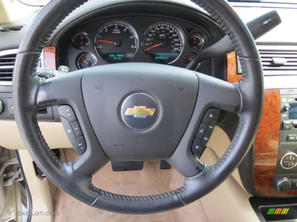2007 chevrolet tahoe lt light cashmere ebony steering. Black Bedroom Furniture Sets. Home Design Ideas