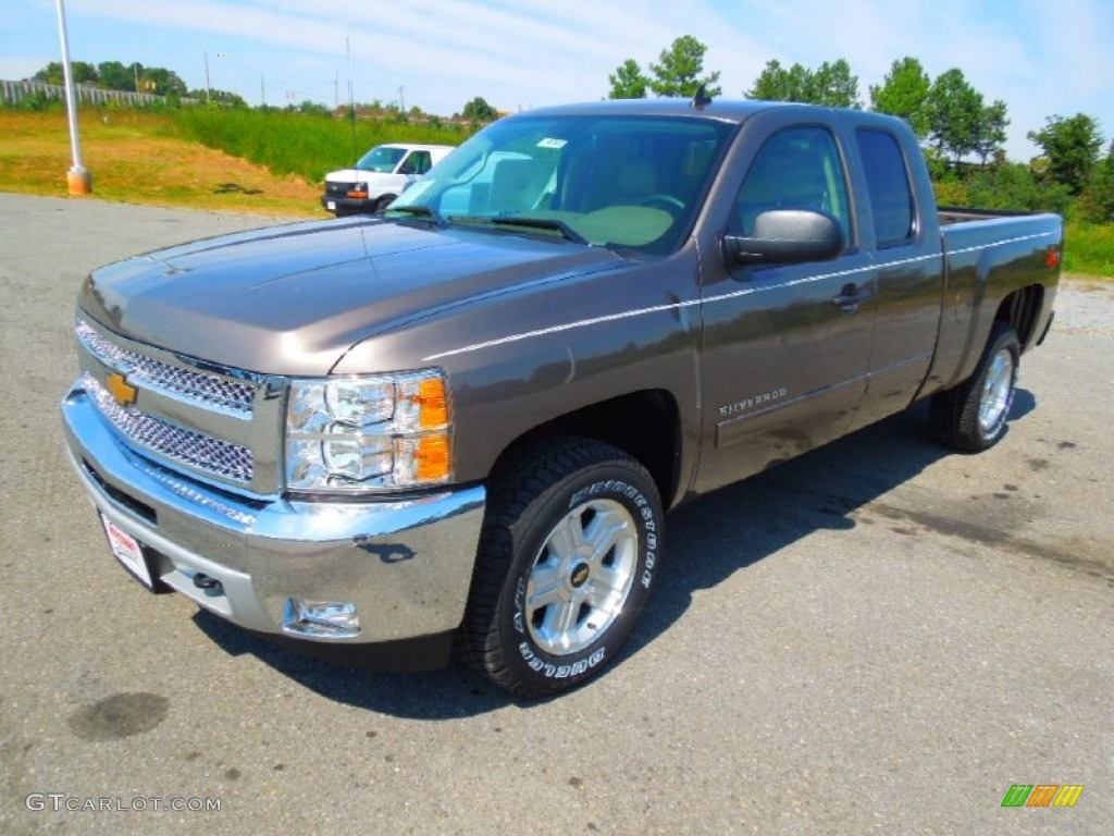 2013 Silverado 1500 LT Extended Cab - Mocha Steel Metallic / Light Cashmere/Dark Cashmere photo #1