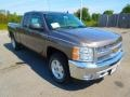 2013 Mocha Steel Metallic Chevrolet Silverado 1500 LT Extended Cab  photo #2
