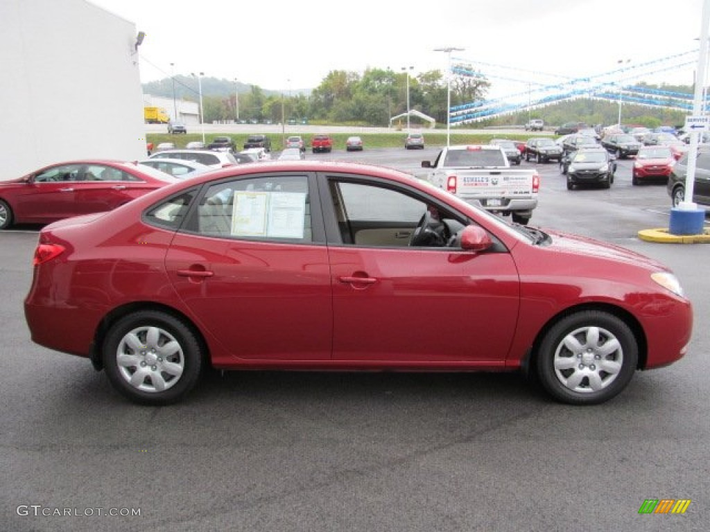 Apple Red Pearl 2008 Hyundai Elantra Gls Sedan Exterior