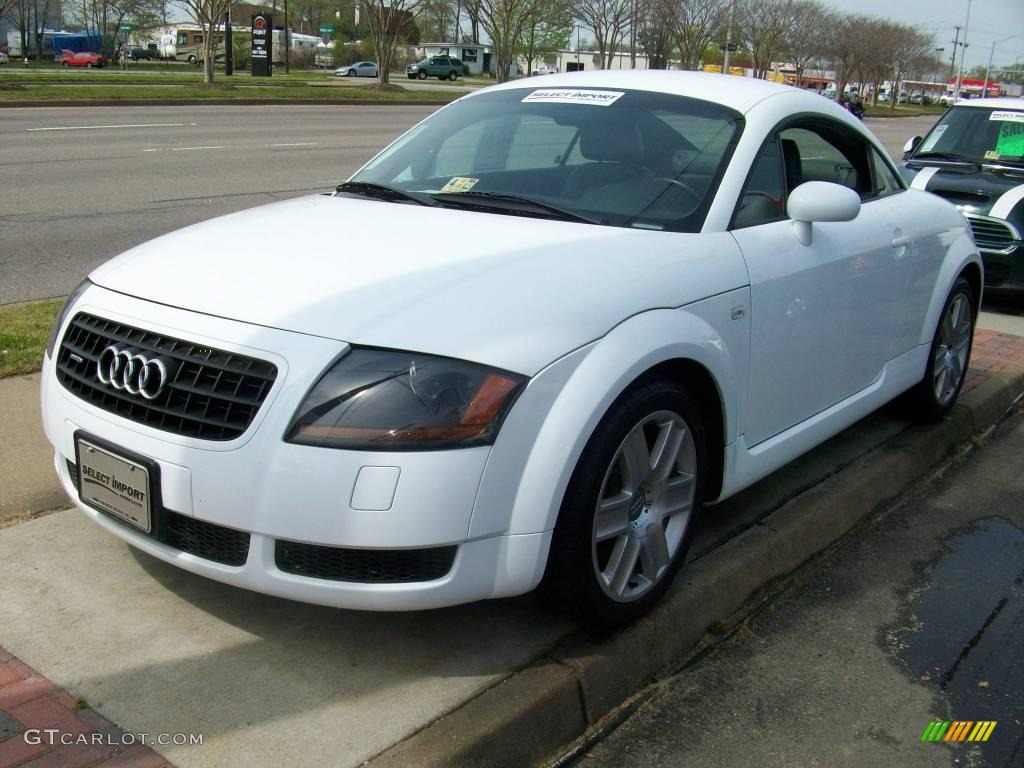 2003 brilliant white audi tt 1 8t quattro coupe 7129264. Black Bedroom Furniture Sets. Home Design Ideas