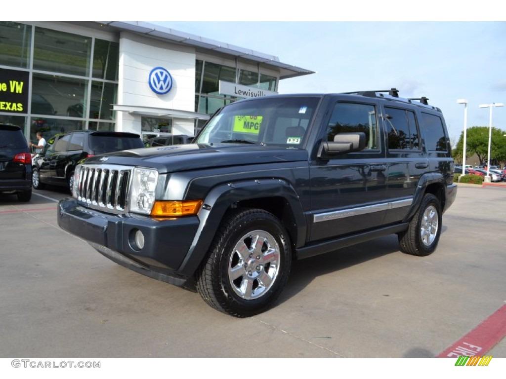 2007 steel blue metallic jeep commander limited #71434840