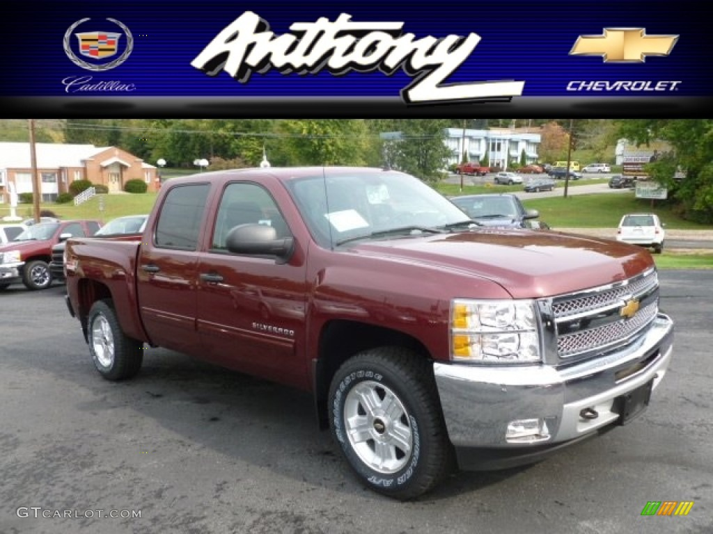 2013 Silverado 1500 LT Crew Cab 4x4 - Deep Ruby Metallic / Ebony photo #1