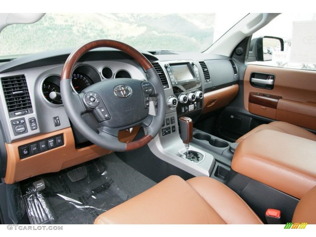 Red Rock Interior 2013 Toyota Sequoia Platinum 4wd Photo 71471903