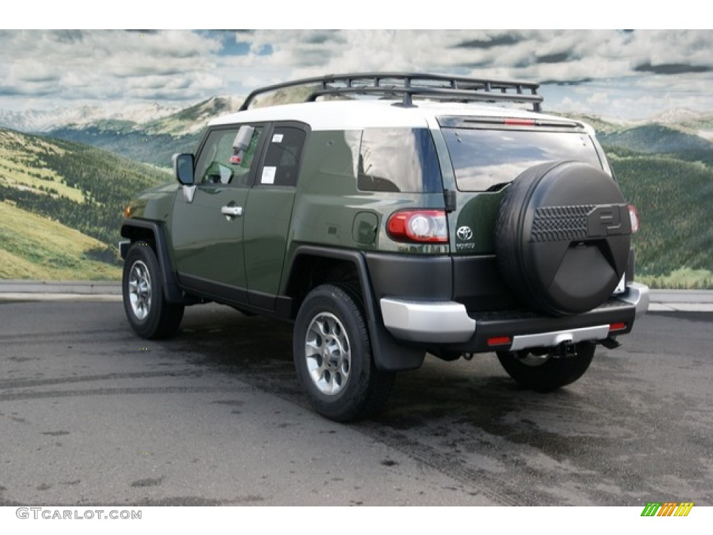 2013 army green toyota fj cruiser 4wd 71434289 photo 2 car color galleries. Black Bedroom Furniture Sets. Home Design Ideas