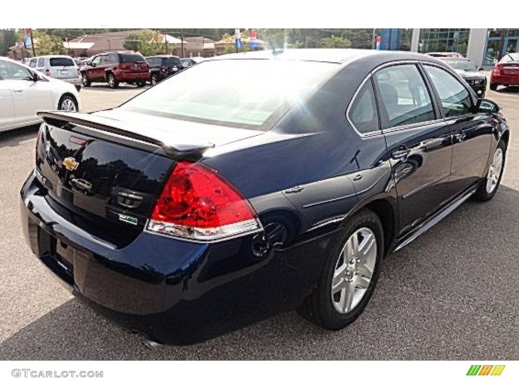 Imperial blue metallic chevrolet impala
