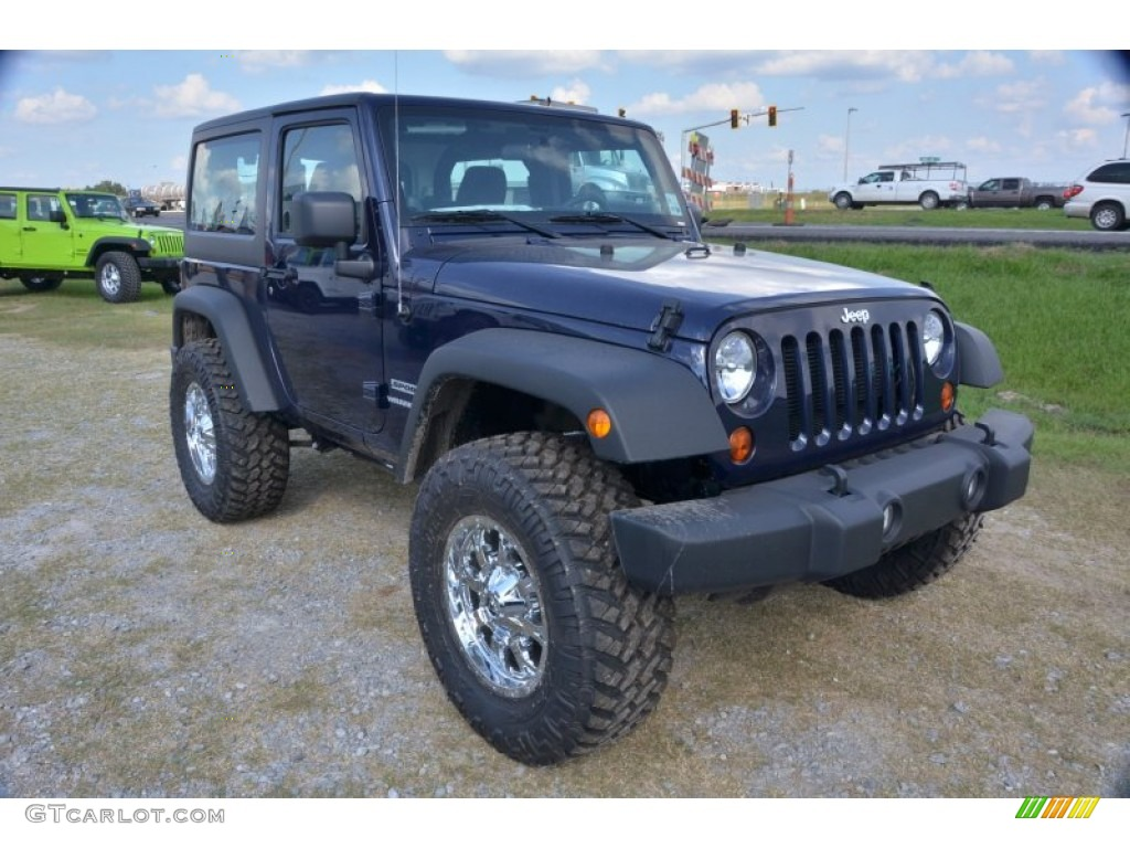 true blue pearl 2013 jeep wrangler sport 4x4 exterior photo 71485745. Black Bedroom Furniture Sets. Home Design Ideas