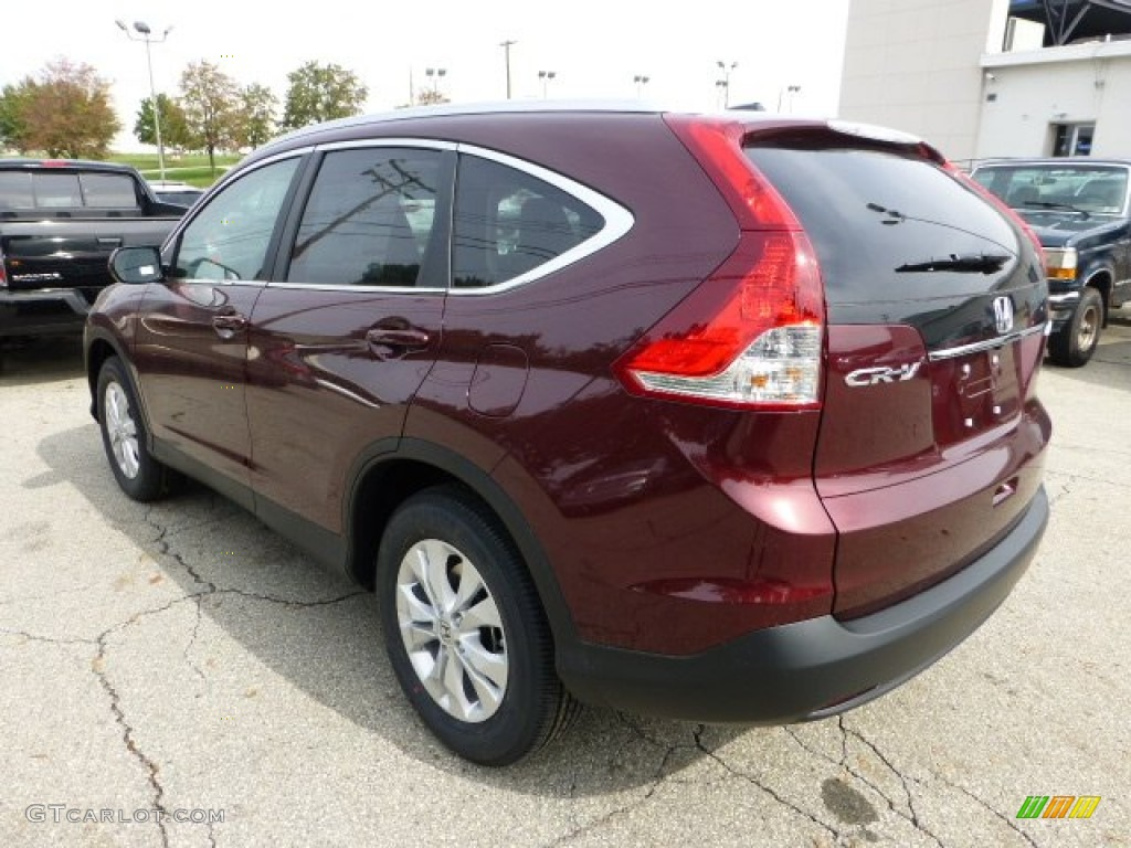 Basque Red Pearl Ii 2013 Honda Cr V Ex L Awd Exterior Photo 71486354