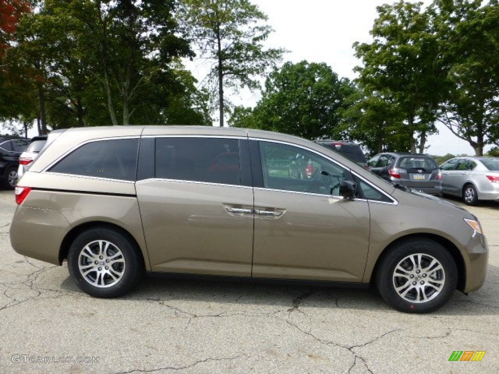 Smokey Topaz Metallic 2013 Honda Odyssey EX L Exterior Photo #71487104